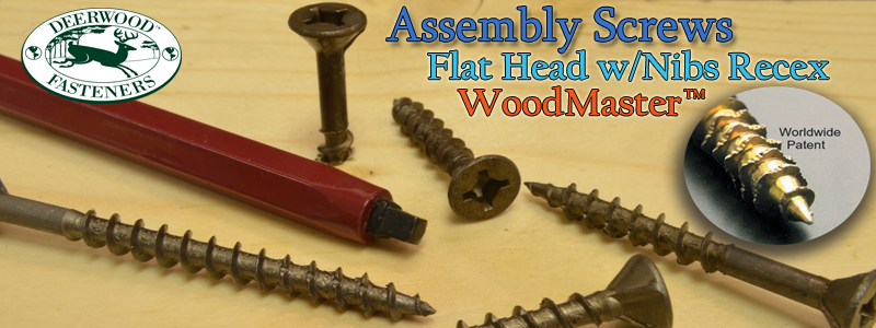 Assembly Screws Flat WoodMaster